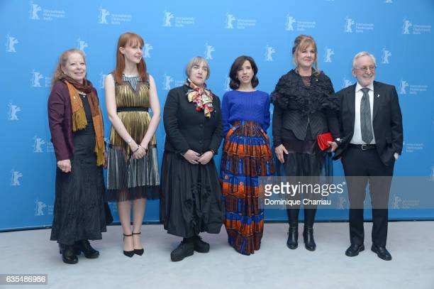 Producers Heather Haldane Susan Mullen director Aisling Walsh actress Sally Hawkins producers Mary Young Leckie and Bob Cooper attend the 'Maudie'...
