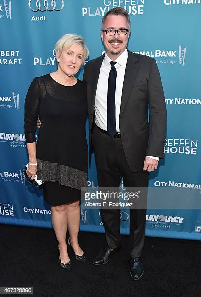 Producers Holly Rice and Vince Gilligan attend The Geffen Playhouse's Backstage at the Geffen Gala at The Geffen Playhouse on March 22 2015 in Los...