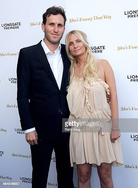 Producers Holly Weirsma and Logan Levy attend the Los Angeles Premiere of Lionsgate's 'She's Funny That Way' at Harmony Gold on August 19, 2015 in...