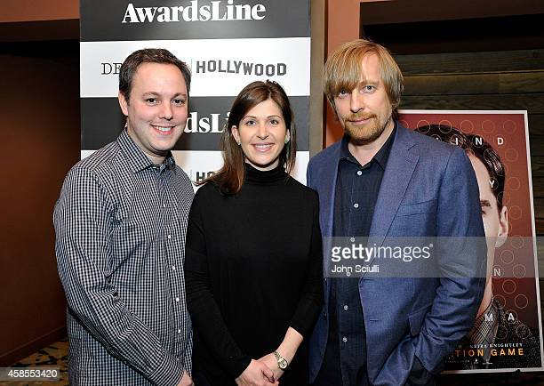 Producers Ido Ostrowsky Nora Grossman and Director Morten Tyldum attend Awardsline screening of Weinstein Co's The Imitation Game at Sundance Sunset...