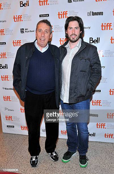 Producers Ivan Reitman and Jason Reitman arrive at Jeff Who Lives At Home Premiere at The Elgin during the2011 Toronto International Film Festival on...