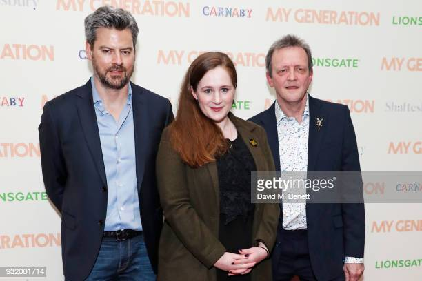 Producers James Clayton Fodhla Cronin O'Reilly and director David Batty attend a special screening of 'My Generation' at the BFI Southbank on March...