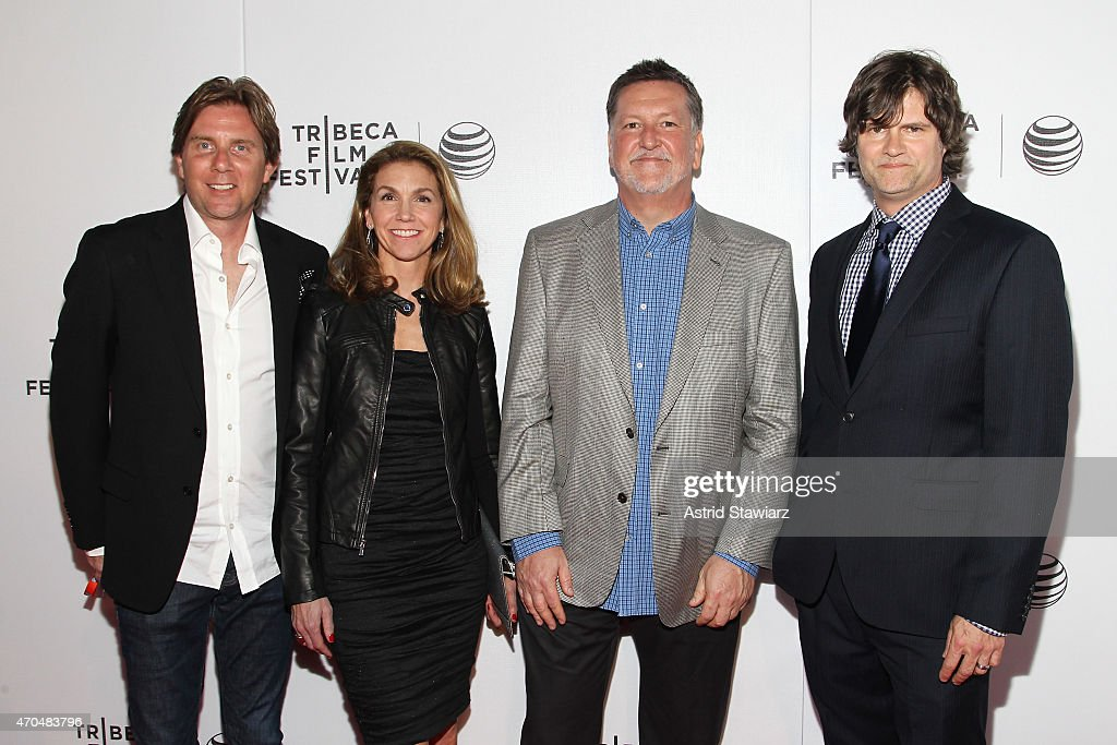Producers Jamie Lokoff, Tammy Tiehel-Stedman, Brian O'Connor, and Tommy Joyner attend the premiere of 'Slow Learners' during the 2015 Tribeca Film Festival at Spring Studio on April 20, 2015 in New York City.