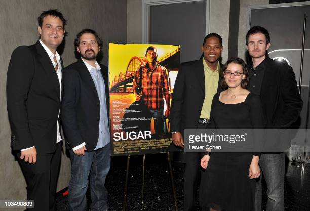 Producers Jamie Patricof and Jeremy Walker actor Algenis Perez Soto and directors Anna Boden and Ryan Fleck arrive at the Los Angeles premiere of...
