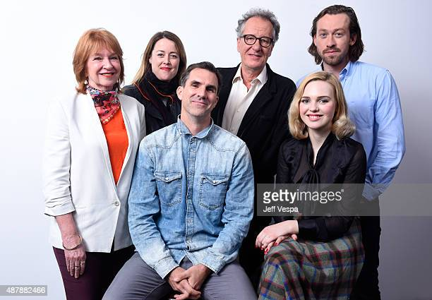 Producers Jan Chapman Nicole O'Donohue actors Geoffrey Rush Simon Stone and actors Paul Schneider and Odessa Young from 'The Daughter' pose for a...