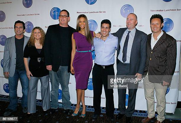 Producers Jeff Probst Allison Grodner Mike Fleiss Tyra Banks Arthur Smith Michael Davies and Mark Burnett attend The Hollywood Radio and Television...