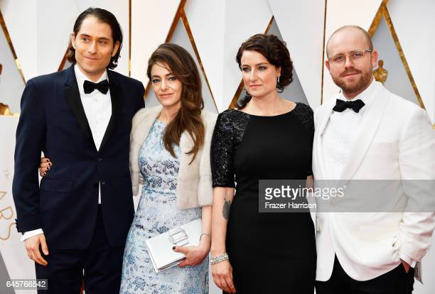 Producers Jeremy Kleiner and Adele Romanski attend the 89th Annual Academy Awards at Hollywood Highland Center on February 26 2017 in Hollywood...
