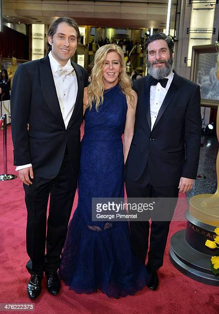 Producers Jeremy Kleiner Dede Gardner and Anthony Katagas attend the Oscars held at Hollywood Highland Center on March 2 2014 in Hollywood California