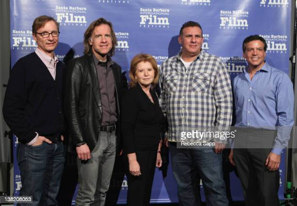 "Producers Jim Burke of ""The Descendants"" Bill Pohlad of ""The Tree of Life"" Letty Aronson of ""Midnight in Paris"" Graham King of ""Hugo"" and Mike De..."