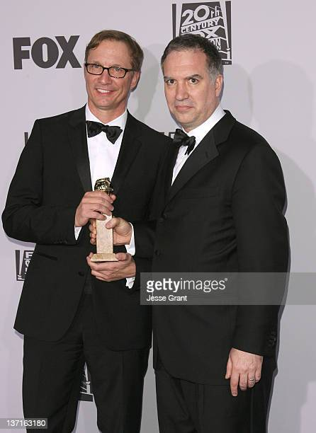 Producers Jim Taylor and Jim Burke arrive at FOX's 2012 Golden Globe Award Nominees After Party held at The Beverly Hilton hotel on January 15 2012...
