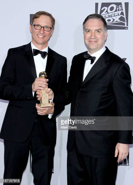 Producers Jim Taylor and Jim Burke arrive at NBC Universal's 69th Annual Golden Globe Awards After Party at The Beverly Hilton hotel on January 15...