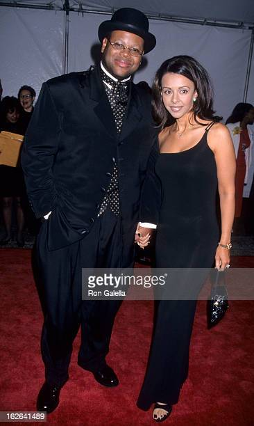 Producers Jimmy Jam and wife Lisa Padilla attend 29th Annual NAACP Image Awards on February 14 1998 at the Pasadena Civic Auditorium in Pasadena...