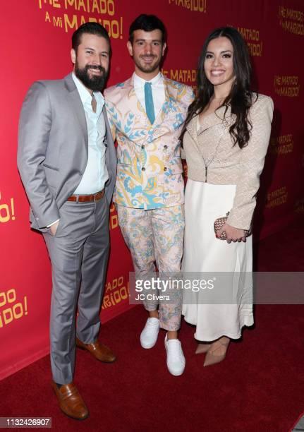 Producers Jo Enriquez Daniela Ruiz and director Francisco Lupini attend 'HE MATADO A MI MARIDO' Los Angeles Premiere at Harmony Gold Theatre on...