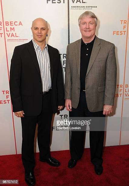 Producers Joey Rappa and David Gundlach attends the premiere of Get Low during the 2010 Tribeca Film Festival at the Tribeca Performing Arts Center...