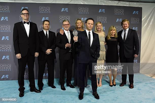 Producers John Cameron, Michael Frislev, Warren Littlefield, actress Jean Smart, writer/producer Noah Hawley, actress Kirsten Dunst, producer Kim...