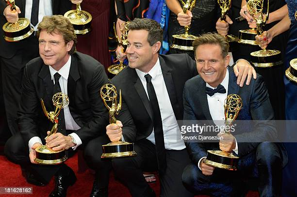 Producers John de Mol Carson Daly and Executive Producer Mark Burnett winners of the Outstanding Reality Competition Program Award for 'The Voice'...