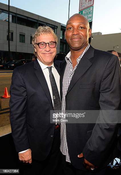 Producers John H Starke and Broderick Johnson attend the Warner Bros Pictures' premiere of 'Prisoners' at the Academy of Motion Picture Arts and...