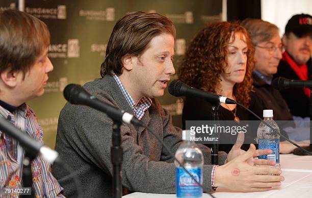 Producers Jon and Peter Shapiro director Catherine Owens executive producer Sandy Climan and producer John Modell speak during the U2 3D panel...