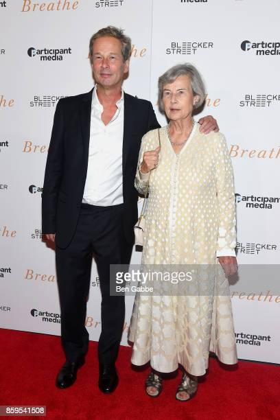"""Producers Jonathan Cavendish and Diana Cavendish attend the """"Breathe"""" New York Special Screening at AMC Loews Lincoln Square 13 theater on October 9,..."""