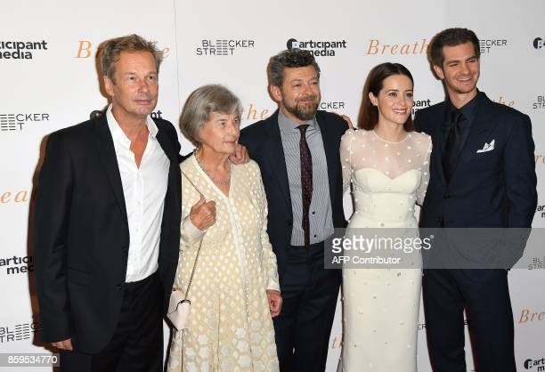 Producers Jonathan Cavendish, Diana Cavendish, director Andy Serkis and actors Claire Foy and Andrew Garfield attend the New York special screening...