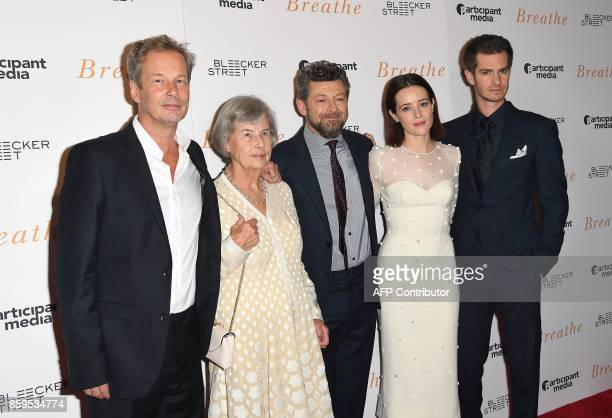 Producers Jonathan Cavendish Diana Cavendish director Andy Serkis and actors Claire Foy and Andrew Garfield attend the New York special screening...