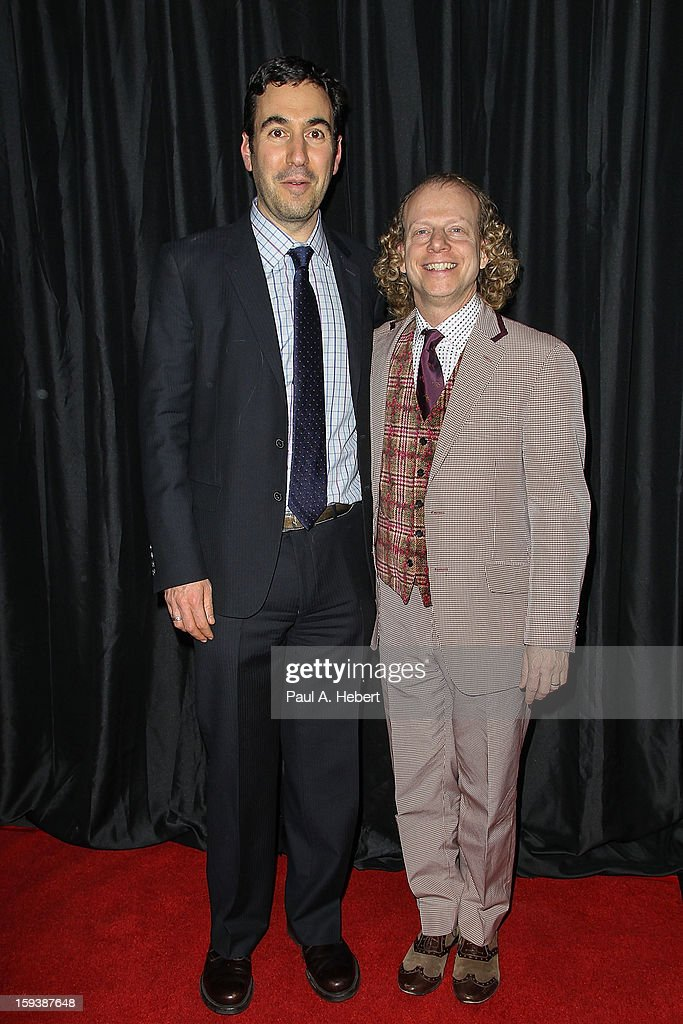 Producers Jonathan Gordon (L) and Bruce Cohen arrive at the 38th Annual Los Angeles Film Critics Association Awards held at the InterContinental Hotel on January 12, 2013 in Century City, California.