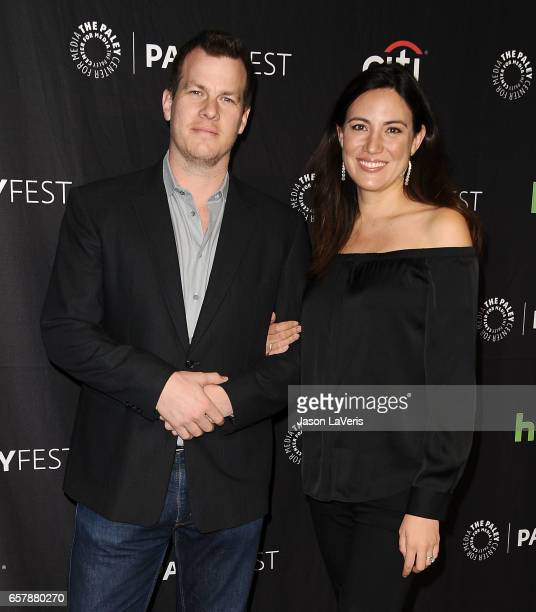 Producers Jonathan Nolan and Lisa Joy attend the Westworld event at the Paley Center for Media's 34th annual PaleyFest at Dolby Theatre on March 25...