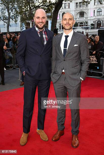 Producers Jordan Horowitz and Fred Berger attend the 'La La Land' Patrons Gala screening during the 60th BFI London Film Festival at the Odeon...