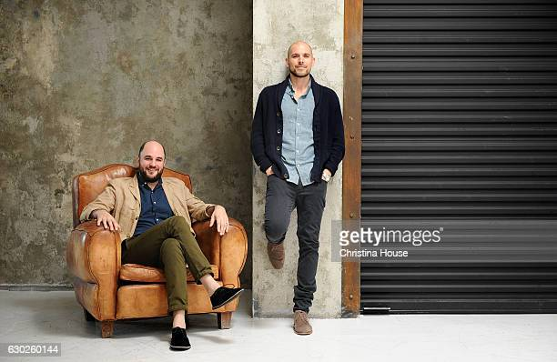 Producers Jordan Horowitz and Fred Berger of 'La La Land' are photographed for Los Angeles Times on October 18 2016 in Los Angeles California