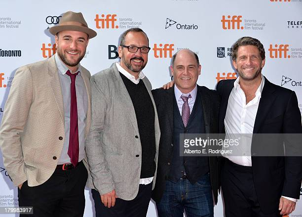 Producers Jordan Horowitz Scott Hornbacher director Matthew Weiner and producer Gary Gilbert attend the You Are Here premiere at Ryerson Theatre...