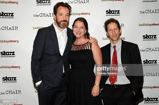 Producers Josh Hetzler Julie Buck and actor Tim Blake Nelson attend Hollidaysburg New York Premiere at Tribeca Grand Hotel on September 15 2014 in...