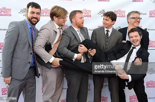 Producers Josh Penn Dan Janvey and Michael Gottwald director Benh Zeitlin cinematographer Ben Richardson and producer Paul Mezey attend the 2013 Film...