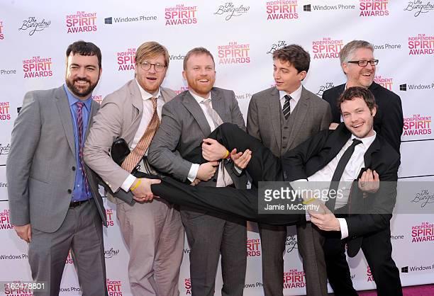 Producers Josh Penn Dan Janvey and Michael Gottwald director Benh Zeitlin cinematographer Ben Richardson and producer Paul Mezey attends the 2013...