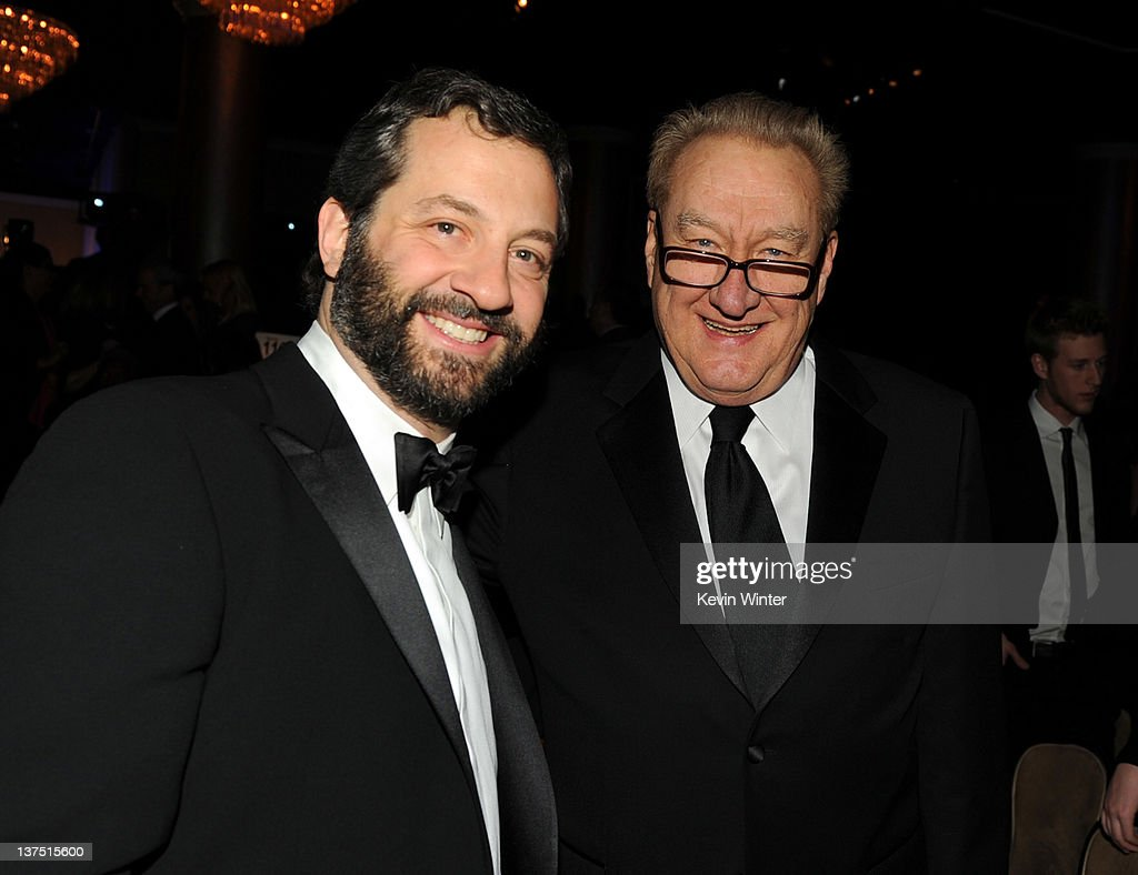 Producers Judd Apatow (L) and Don Mischer attend the 23rd annual Producers Guild Awards at The Beverly Hilton hotel on January 21, 2012 in Beverly Hills, California.