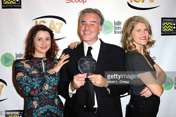 Producers Julia Wackenheim Gimple Ryan Gowland and Molly Hawkey at the 7th Annual Indie Series Awards held at El Portal Theatre on April 6 2016 in...