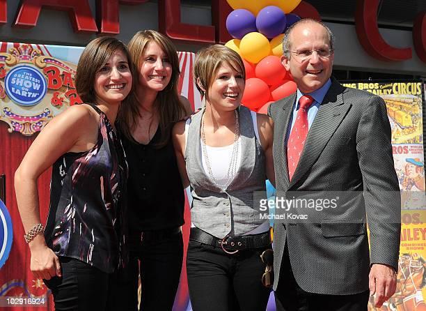 Producers Juliette Feld, Nicole Feld, Alana Feld, and Feld Entertainment CEO Kenneth Feld attend the star dedication ceremony for iconic circus...