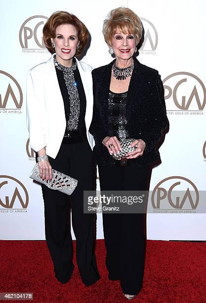 Producers Kat Kramer and Karen Sharpe Kramer attend the 26th Annual Producers Guild Of America Awards at the Hyatt Regency Century Plaza on January...