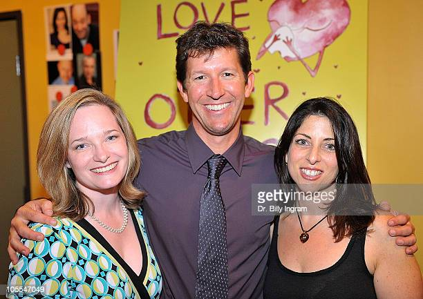 Producers Katherine Phillips Moser Steve Oreste and writer Michelle Kholos Brooks arrive at Open Night Premiere of the Play Love And Other Allergies...