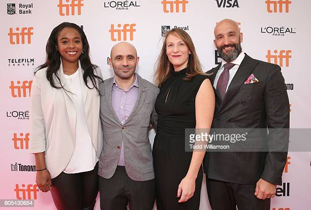 Producers Kimberly Steward Josh Godfrey Lauren Beck and Head of Worldwide Film at Amazon Studios Jason Ropell attend Amazon Studios' 'Manchester By...