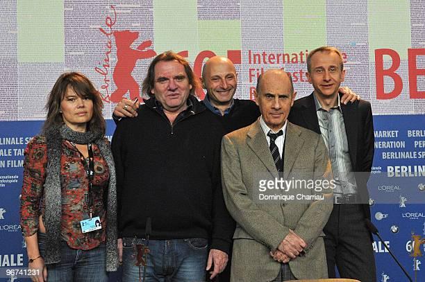 Producers Kristina Larsen and Gilles Sandoz director Olivier Ducastel actor Guy Marchand and director Jacques Martineau attend the 'L'Arbre Et La...
