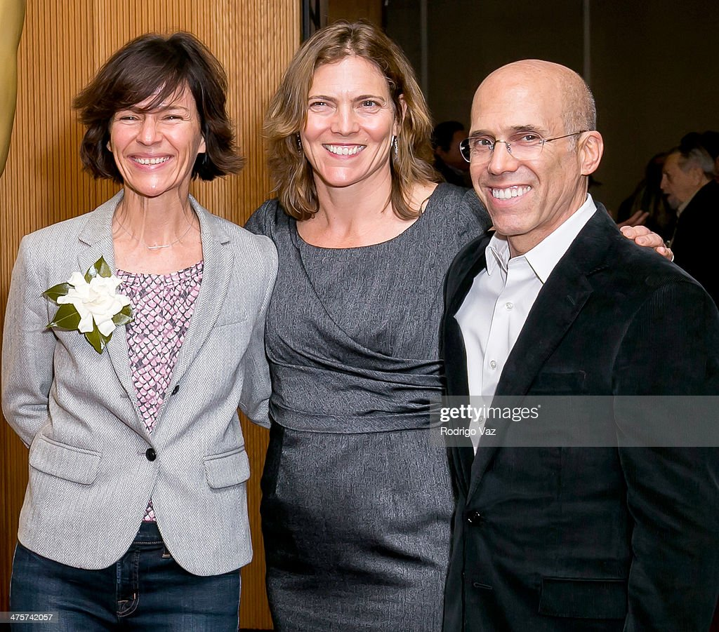 Producers Kristine Belson, Jane Hartwell and Jeffrey Katzenberg attend the 86th Annual Academy Awards Oscar Week Celebrates Animated Features at AMPAS Samuel Goldwyn Theater on February 28, 2014 in Beverly Hills, California.