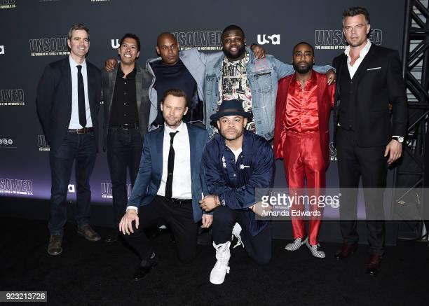 Producers Kyle Long and Mark Taylor actors Bokeem Woodbine Wavyy Jonez Marcc Rose and Josh Duhamel director Anthony Hemingway and actor Jimmi Simpson...