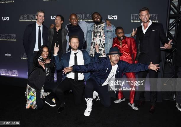Producers Kyle Long and Mark Taylor actors Bokeem Woodbine Wavyy Jonez Marcc Rose and Josh Duhamel director Anthony Hemingway actor Jimmi Simpson and...