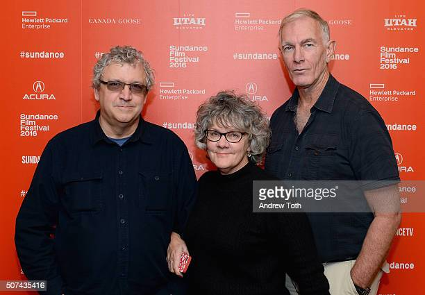 """Producers Larry Estes, Maggie Renzi and director John Sayles attends the """"City Of Hope"""" Premiere during the 2016 Sundance Film Festival at Egyptian..."""