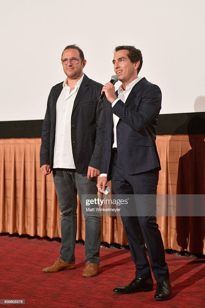 Producers Laurent Zeitoun (L) and Yann Zenou attend the Weinstein Company's 'LEAP!' at The Grove on August 19, 2017 in Los Angeles, California.