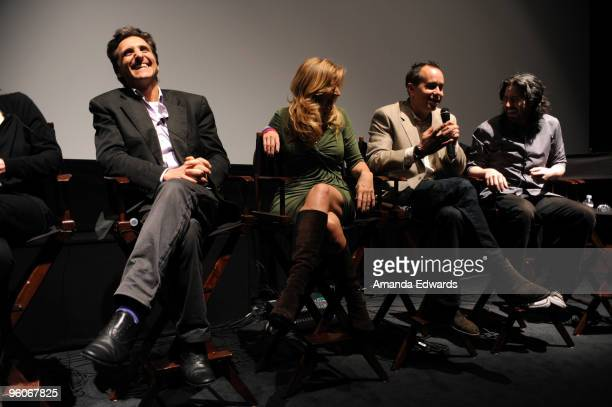 Producers Lawrence Bender Lori McCreary Jonas Rivera and Jason Reitman participate in a Q A discussion at the Producers Guild Awards Nominees...