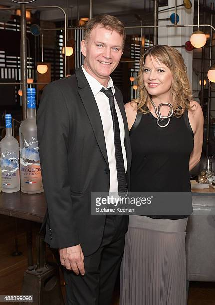 Producers Les Weldon and Heidi Jo Markel attend the Septembers of Shiraz TIFF Party Hosted By GREY GOOSE Vodka at Byblos on September 15 2015 in...
