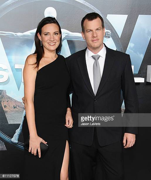 Producers Lisa Joy and Jonathan Nolan attend the premiere of Westworld at TCL Chinese Theatre on September 28 2016 in Hollywood California
