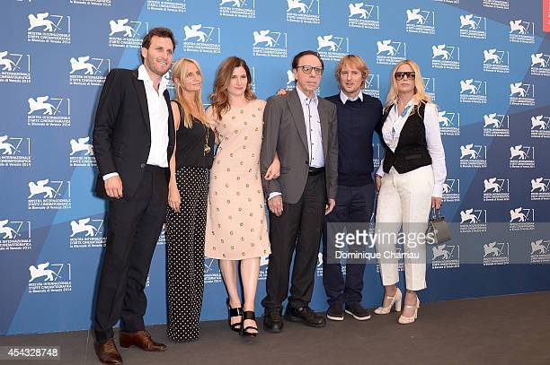 Producers Logan Levy Holly Wiersma actress Kathryn Hahn director Peter Bogdanovich actor Owen Wilson and Louise Stratten attend the 'She's Funny That...