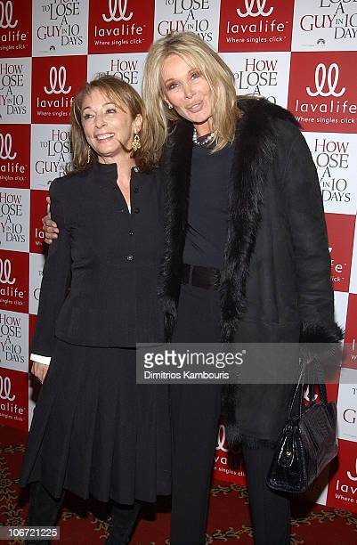 Producers Lynda Obst and Christine ForsythPeters during Lavalife's New York Screening of Paramount Pictures' How to Lose a Guy in 10 Days Inside...